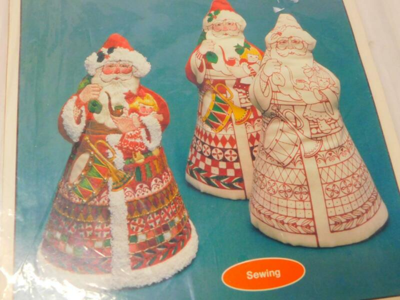 """Current Creative Sewing Kit FATHER CHRISTMAS Soft Sculpture Santa 12"""" Embroidery"""