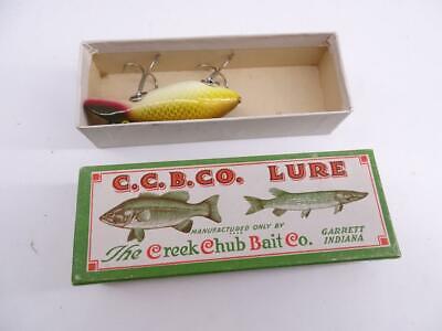 Vintage Creek Chub Bait Co River Scamp Natural Perch No 4301 Fishing Lure w/ Box