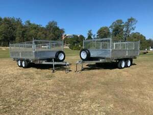 3 Way TIPPING Galvanised Tandem 3.5 Ton Tipping Trailer Brisbane Region Preview