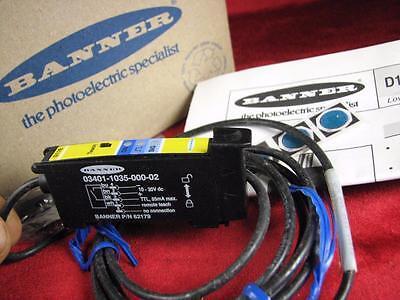 Banner D11 62179 Expert Teach Mode Sensor Fiber Optic 03401-1035-000-02 - New