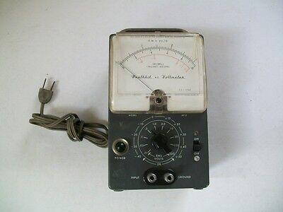 Vintage Heathkit Heath Co Ac Volt Meter Vacuum Tube Av-2 W200ua Simpson Meter