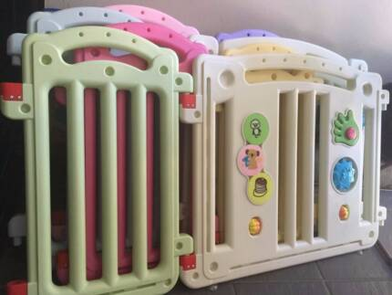 14-panel baby playpen with gate about 3 sqm - good condition, $30
