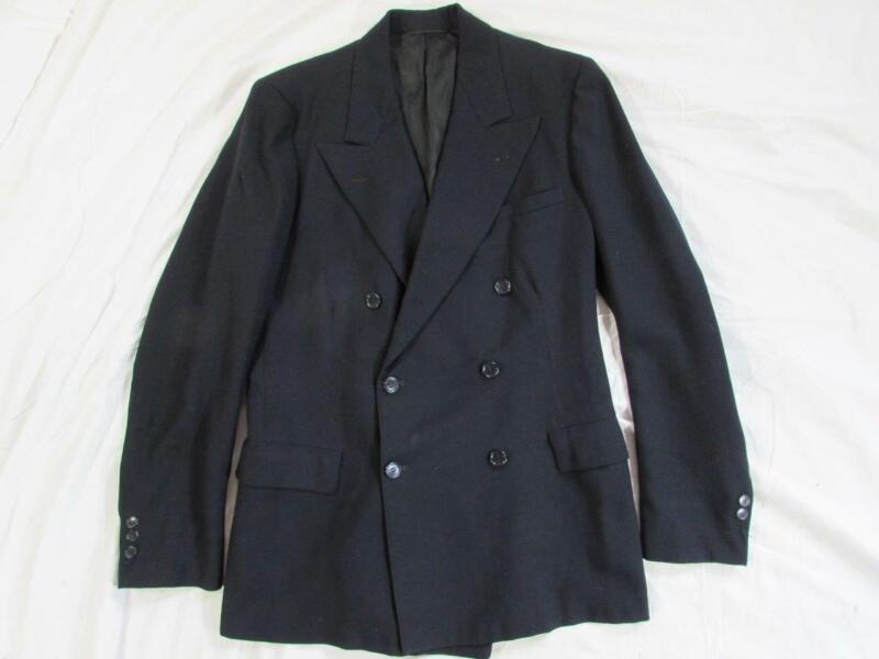 Vtg 40s 1946 Date Double Breasted Blazer Sport Coat Jacket Hollywood Gangster