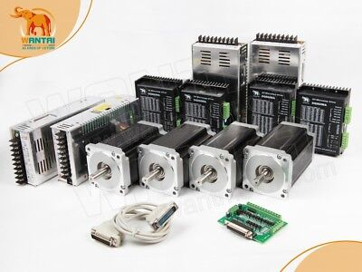 Wantai 4axis Nema34 Stepper Motor 1700oz-incnc Driver 8.2apower Kit