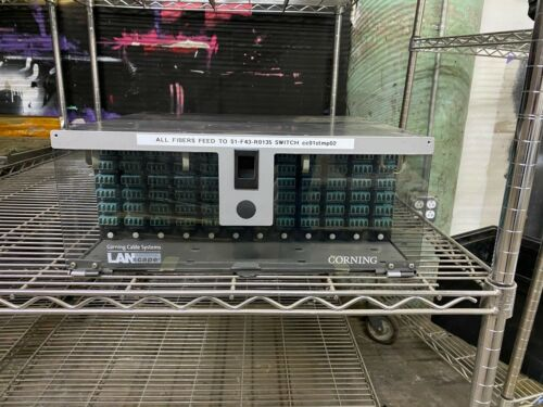 Corning 4U Cable System Patch Panel Management w/ 12 Ports, Clear Front