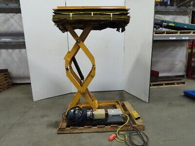 1000 Lb Hydraulic Scissor Lift Table 48x27 Top 12 To 84-12 Ht. 460v 3ph
