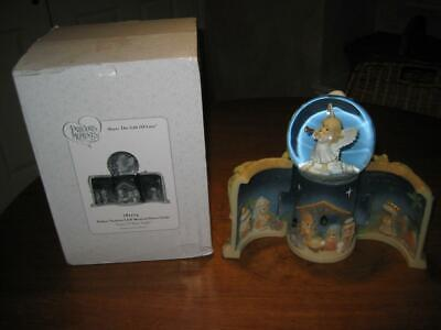 Precious Moments Come Let Us Adore Him Nativity LED Musical Snow Globe & Blower