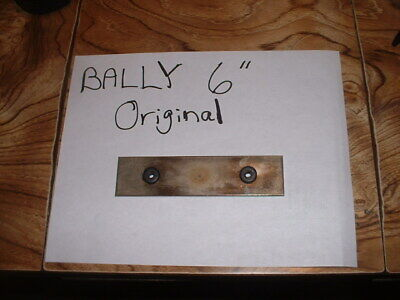 "Bally 6"" Original Steel Chime Bar with grommets  -  pinball parts"