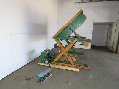 Air Tech 2000lb Hydraulic Scissor Lift 45tilt 50x48 Table 115v Single Phase
