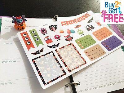 PP118 -- Cute Halloween Weekend Life Planner Stickers for Erin Condren - Halloween 118