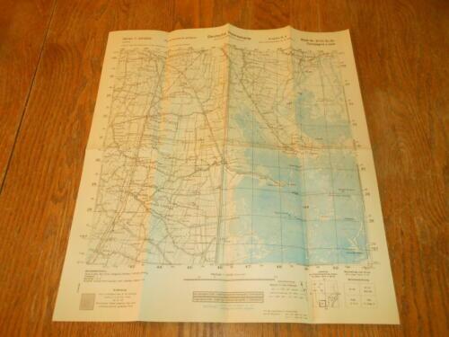WW II German Army 1:25000 Landekarte - NAVIGATIONAL MAP - ITALY #3 - VERY NICE!