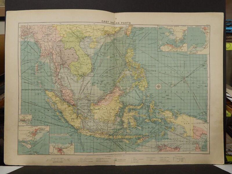 Mercantile Marine Atlas 1914 East Indian Ports R4#70