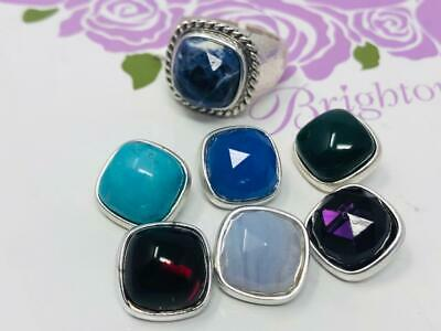 1 Brighton Color Clique Gem hammered  Ring with 7 stones to change  size 9