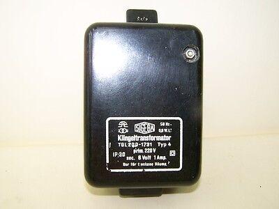 Bell Transformer 220 Volt 6 Volt 1 Amp by Sigeba