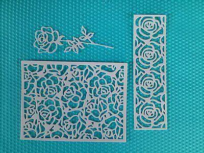 15 x Stanzteile Kartenschmuck Rosen Kartenaufleger Scrapbooking Basteln Papier