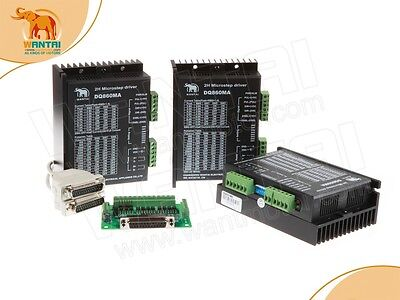 Ship From Usagermany No Taxes 3axis 3d Cnc Dq860ma Stepper Driver80vdc8.2a