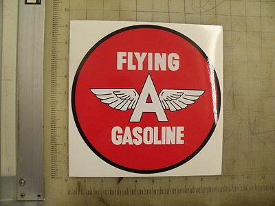 "Vintage Flying A gasoline Gas sticker 9"" diameter"