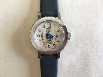 Vintage Disney Bradley Donald Duck Swiss Watch 015 - EXE - Runs