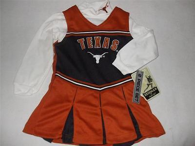 NCAA Texas Longhorns Child 3T Cheerleader Reebok Halloween Costume 2pc NEW