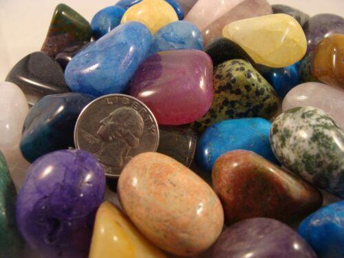 Tumbled and Polished Gemstones Xtra Large (Size #6) - Colorful - 1 LB Lots