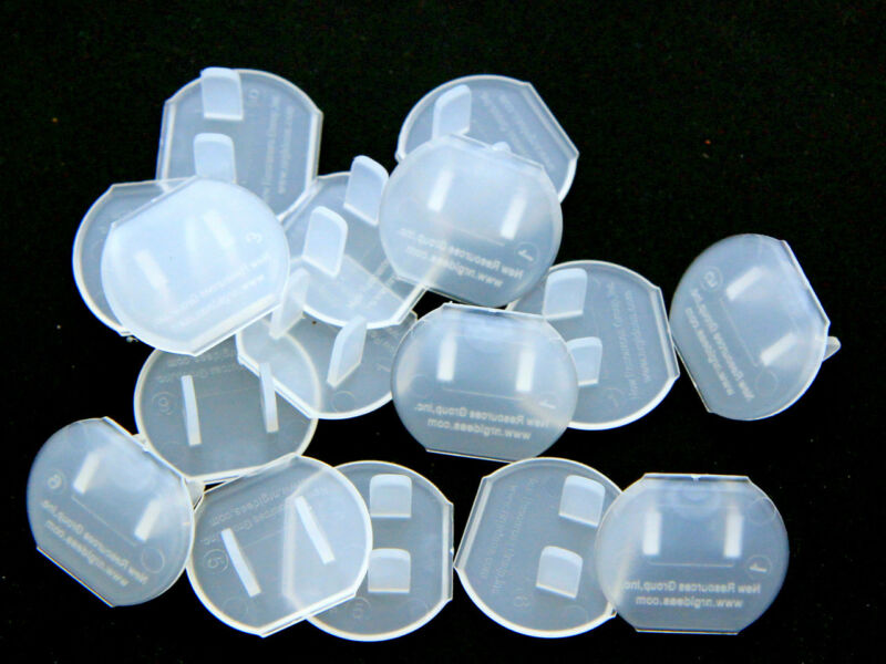12 Pack Clear Electrical Outlet Safety Caps, Child Protection and Draft Stoppers