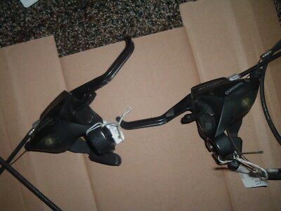 Shimano front shifters with V brake, 24 speed, front and back disc brakes , used for sale  Honor