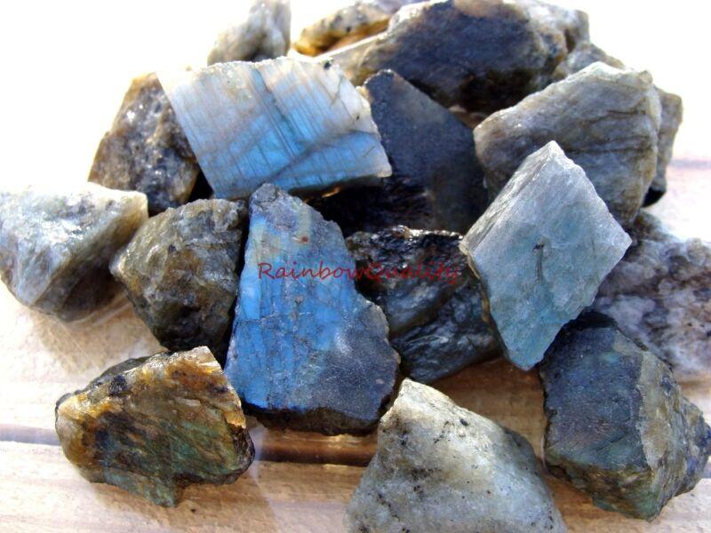LABRADORITE ROUGH ROCKS - 2 1/2 LB Lot - TUMBLER, CABBING ROUGH - FREE SHIPPING