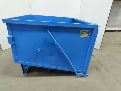 Recycling Enterprises Inc. Model 4x4 Forklift Steel Chute Hopper 1.5 Cu Yd