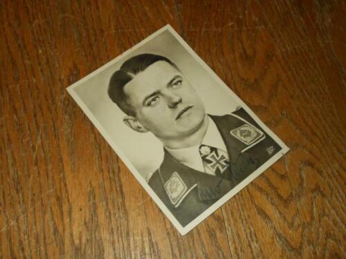WW2 German Luftwaffe Oberst Otto Weiss - WARTIME AUTOGRAPH - RARE!