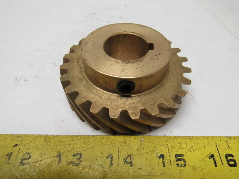 """Boston Gear HB824-L Brass Helical Gear 45 Degree Helix 1"""" Bore 24 Teeth"""