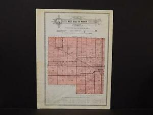 Indiana, White County Map, 1929, West Half of Monon Township, X1#24