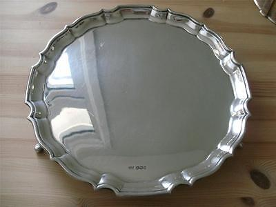 SUPERB STERLING SILVER SALVER TRAY Sheffield 1937 Heavy
