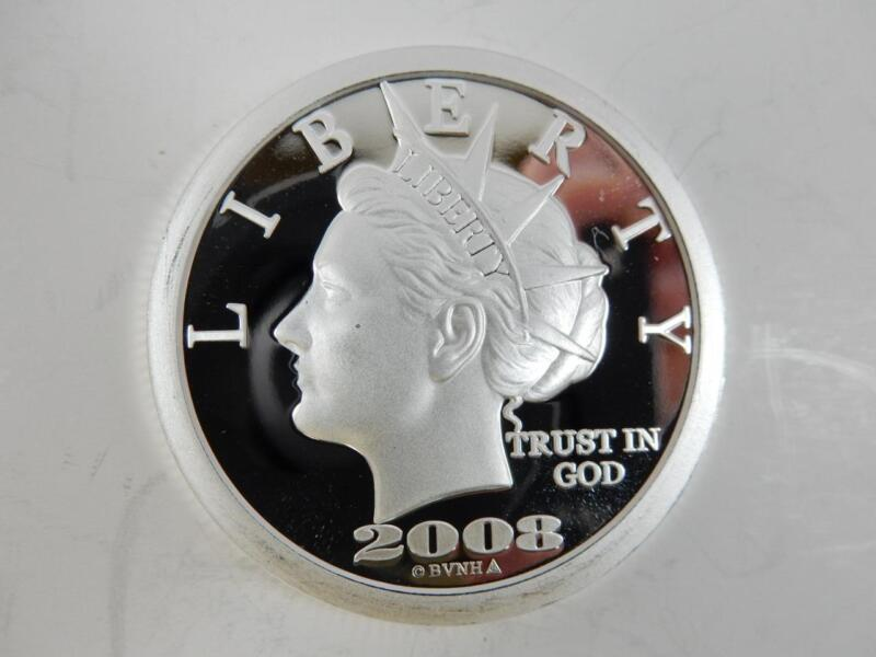 2008 $50 SILVER COIN, 10TH ANNIVERSARY 1998-2008 *NOT LEGAL TENDER*   #J60