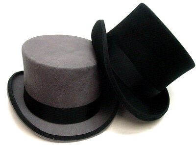 Mens Black OR Gray Top Hat Tophat Topper Coachman sizes S-XXL fully - Coachman Top Hat