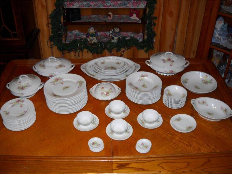 Set of 49 ~ Antique Victoria Carlsbad Austria Victorian Porcelain - Immaculate