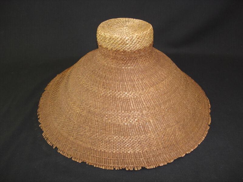 A Northwest American Indian basket hat, circa 1890