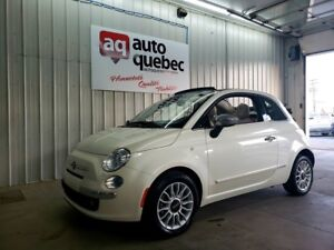 2012 Fiat 500 Lounge Convertible / Jamais Accidenté