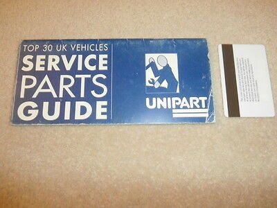 Unipart.Service Parts Guide. c1980
