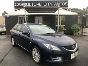 2008 Mazda 6 GH Classic Blue 5 Speed Auto Activematic Wagon Morayfield Caboolture Area Preview
