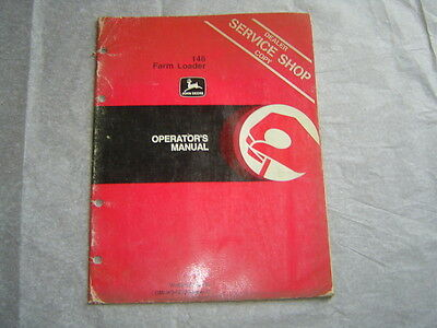 John Deere 146 Farm Loader Operators Manual