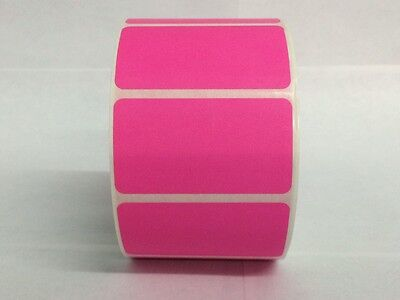 Pink 2.25x1.25 Direct Thermal Barcode Zebra Eltron 6 Rolls-1000roll