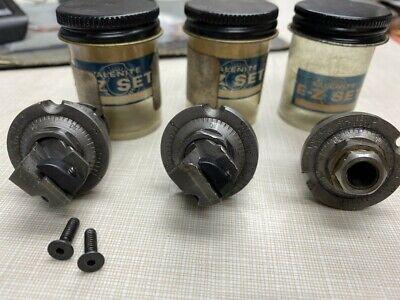 Lot Of 3 Valenite E-z Set Cartridge Windexable Insert Holder Bucv Cvc
