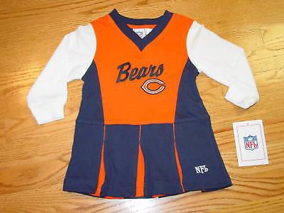 2T Chicago Bears Football Cheerleader Dress Halloween Costume Baby Girls Toddler - Toddler Football Halloween Costumes