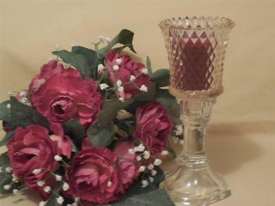 Home Interior Pink Diamond Votive Cup and Clear Candle Holder