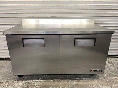 60 Work Top Refrigerator 2 Door Cooler True Twt-60 Nsf Stainless Steel 5477