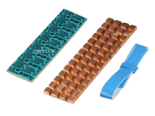 M.2 NVMe SSD Heatsink Cooler 2280 Pure Copper with Matching Thermal Silicone Pad
