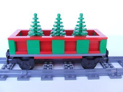 Holiday Christmas Tree Train Built w/ New Lego Bricks fits 10173 10254 Sets MOC