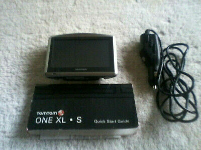 TOM TOM ONE XL  ~ S ~ GPS W/Power Cord and Quick Start Guide