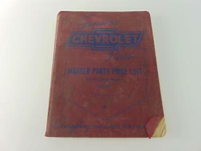 Used, Original 1929-1941 Chevrolet Master Parts Price List Book / Six-Cylinder Models for sale  Tinley Park