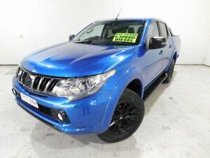 2017 Mitsubishi Triton MQ MY17 GLS (4x4)DUAL Blue Manual Utility